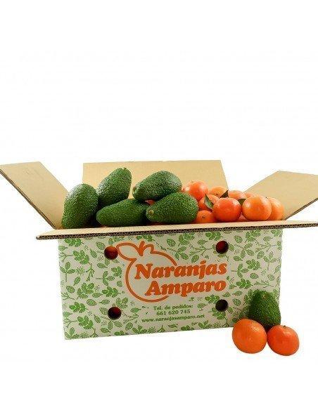 Caja mixta de mandarinas con aguacate