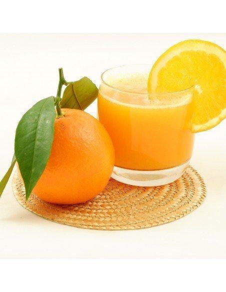 naranja zumo y mesa