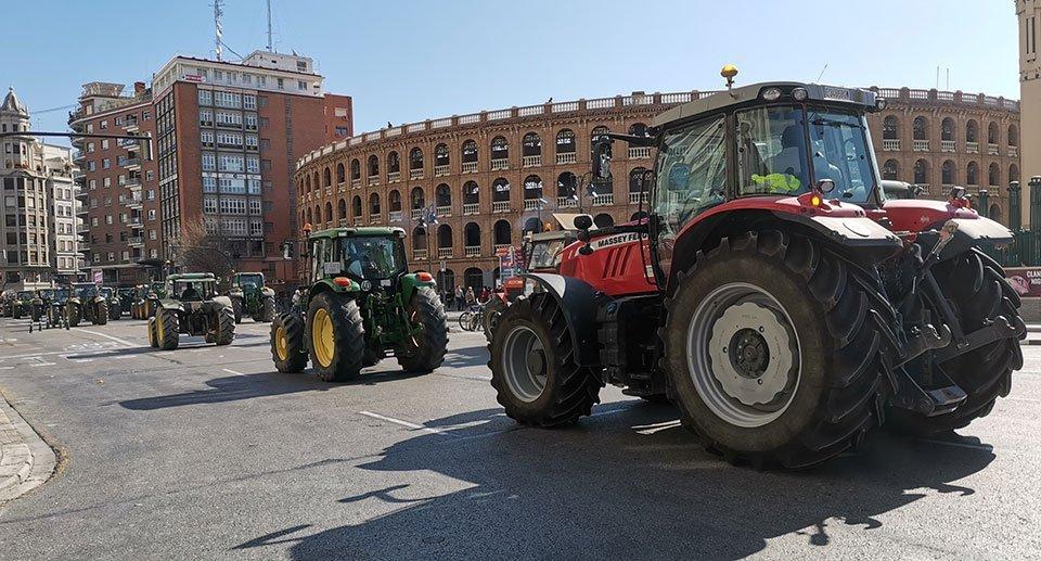 protesta agricultores valencia