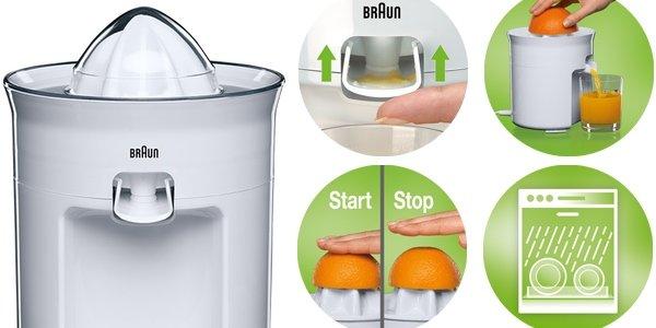 Braun CJ3050 orange juicer