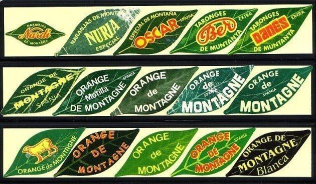 etiqueta Naranja de Montaña