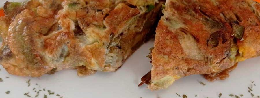 Tortilla Aguacate y Alcachofa